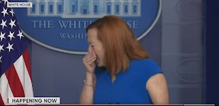 Jen Psaki Sneezes Mid-Press Briefing In Worst Possible Way During Pandemic