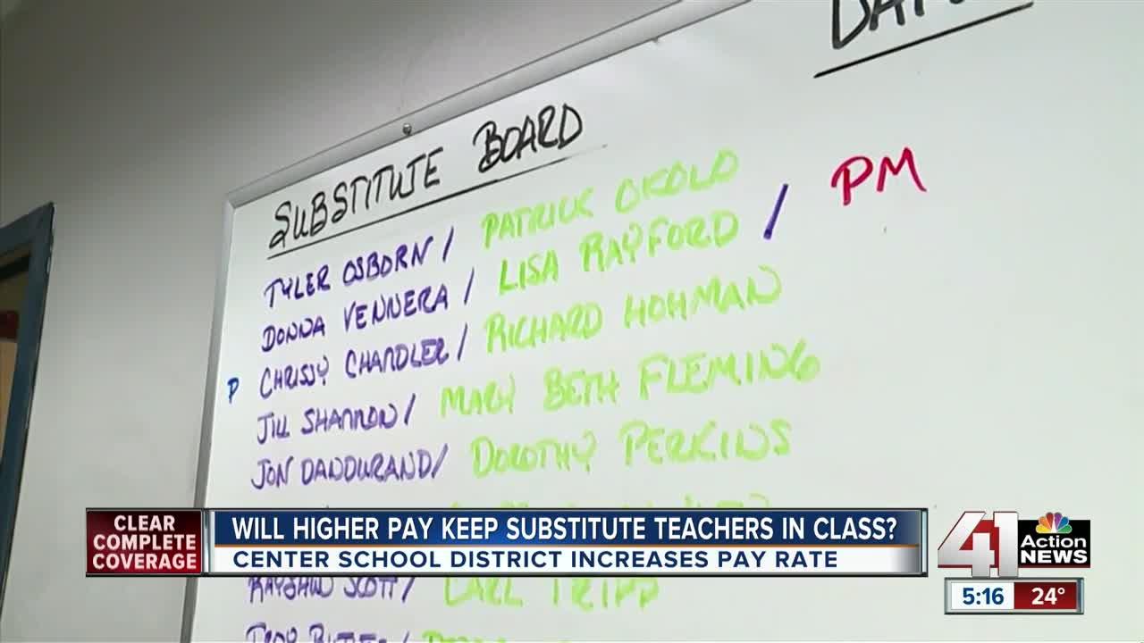 Center School District hoping higher pay keeps substitute teachers in class