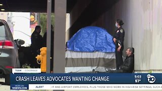 Homeless advocates asking for change after car hits and kills three people