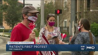 Fawcett nurses protest