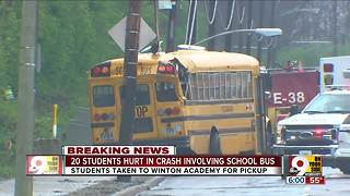12-year-old in critical condition after school bus crash