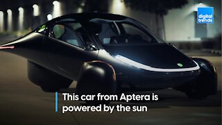 This is the Aptera Paradigm, a solar powered car