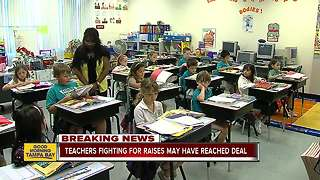 Teachers fighting for raises in Hillsborough Co. may have reached deal