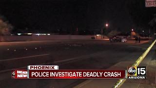 Police investigating deadly crash in north Phoenix