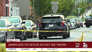 Active Police barricade in East Baltimore