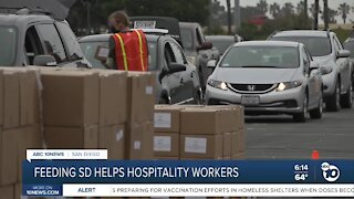 Feeding San Diego helps hospitality workers