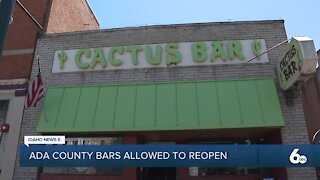 Ada County Bars Allowed to Reopen