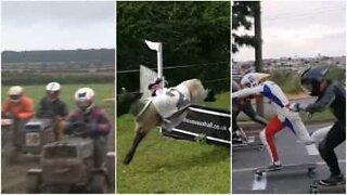Já viu corridas como estas?