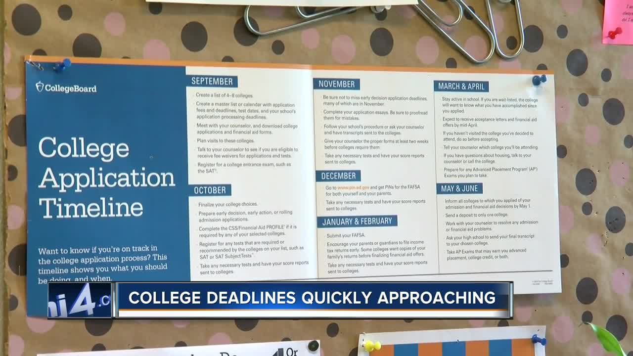 College deadlines are quickly approaching: Here's what you need to know