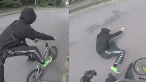 Phone Thief Gets a Taste of Instant Karma And Is Thrown Off His Bike