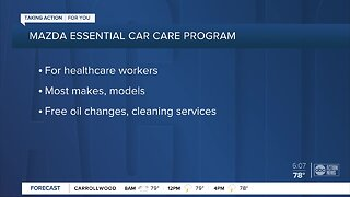 Mazda giving healthcare workers free oil changes, cleaning services