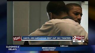 Kanye, Kim Kardashian rent out OKC theaters