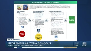 Arizona education officials release guidelines for reopening schools