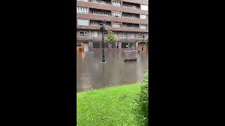 Sudden storm causes massive floods in Oviedo, Spain
