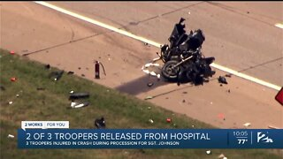 2 of 3 OHP troopers released from hospital after procession crash