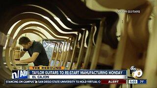 Taylor Guitars to restart manufacturing Monday
