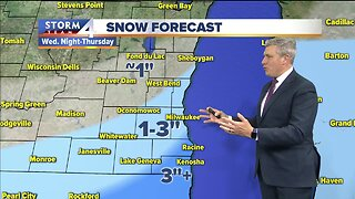 Snow moves in Wednesday night, continues into Thursday