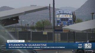 Around 100 Cactus Shadows students forced to quarantine