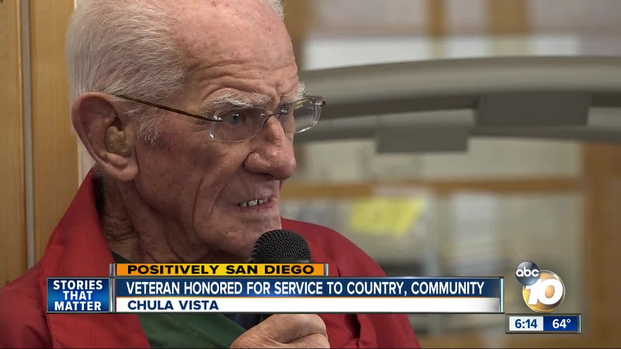 Veteran honored for service to country, community