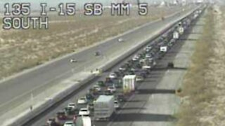 RTC: 26-mile backup on I-15 as California visitors leave Vegas on Memorial Day