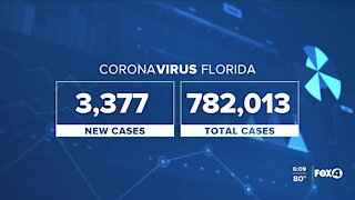Coronavirus cases in Florida as of October 26th