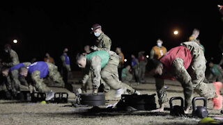 U.S. Army Best Medic Competitors Conduct the Army Combat Fitness Test