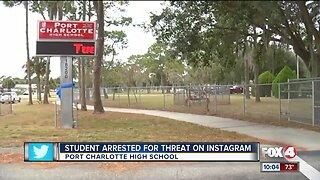 Port Charlotte High student arrested for threat on Instagram