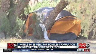 Local officials discussing ways to use hotels to house homeless people during coronavirus outbreak