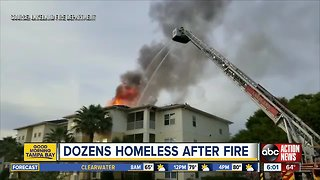 Dozens left homeless after large fire destroys 24 apartments
