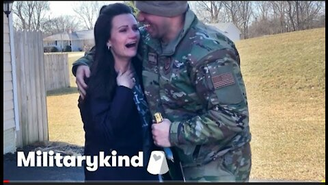 Airman lands amazing surprise for his family | military kind