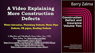 A Video Explaining More Construction Defects