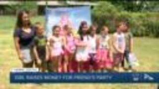 Tulsa girl raises money for friend's party