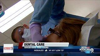 Dental don't: brushing your teeth too hard