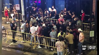 Pictures show people waiting shoulder-to-shoulder to get inside Ybor nightclub