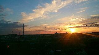 Smartphone sunset time lapse