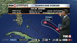5 AM Advisory on Hurricane Dorian