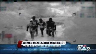Border patrol video shows people crossing into US