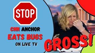 CNN Anchor Brianna Keilar EATS BUGS - On LIVE TV