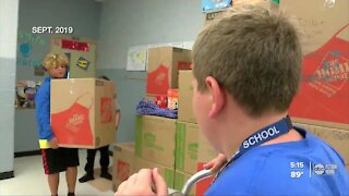 Manatee Co. middle school help collect supplies for Hurricane Laura victims