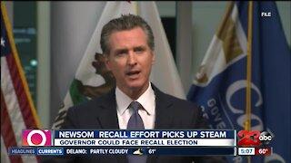Governor Gavin Newsom recall effort picks up steam