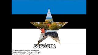 Bandeiras e fotos dos países do mundo: Estônia [Frases e Poemas]