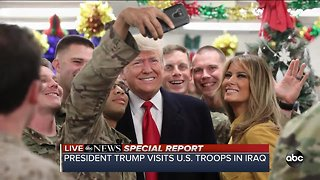 President Trump visits troops in Iraq