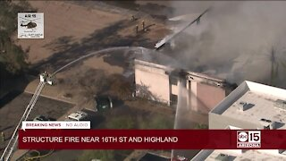 Second-alarm fire near 16th Street and Highland