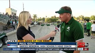 Game of the Week: Live interview with Coach Golla