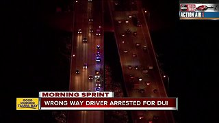 Wrong-way driver arrested after crash on Howard Frankland, woman in critical condition