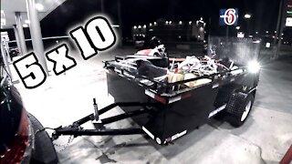 Utility Trailer ~ 5 x 10 ~ Sneak Peak at N9YO Ham Estate Playground!