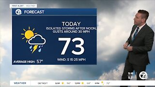 Metro Detroit Forecast: Some storms today could have severe-level wind gusts
