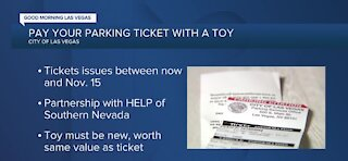 Pay your parking ticket with a toy