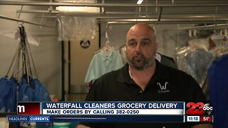 Waterfall cleaners holds grocery delivery service for elderly