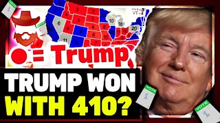 Trump Won The Election With 410 Electoral Votes?